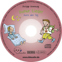 CD Label Bunte Lieder Durch den Tag