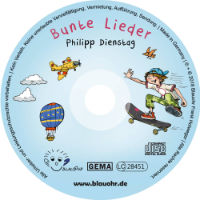 CD Label Bunte Lieder